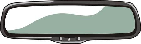 car mirror Illustration