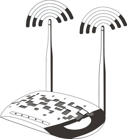 access point: modem for internet