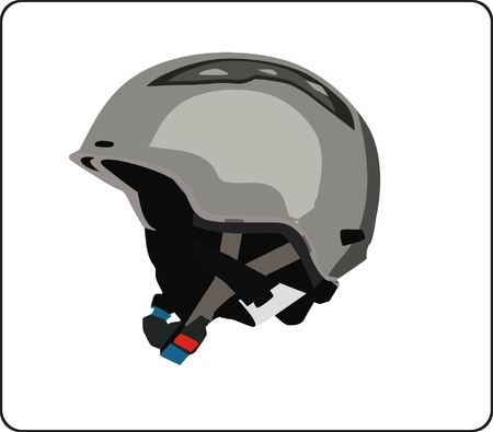 snowboard helmet Illustration