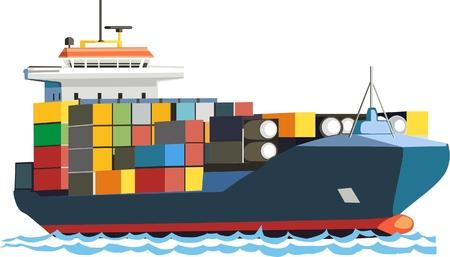 Ship of tanker Ilustração
