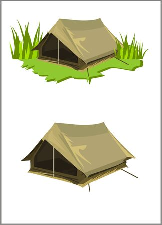 objects with clipping paths: Brown tent collections Illustration