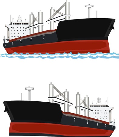 Ship of tanker Illustration