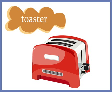 toaster: Red toaster
