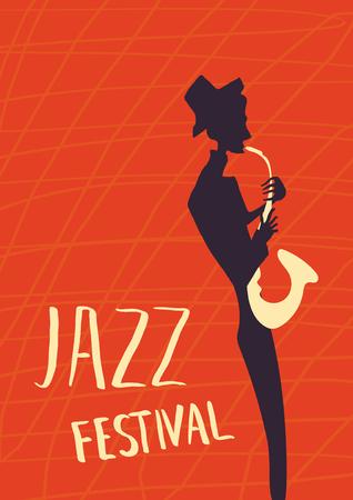 instrumentalist: Poster for jazz music festival or concert. Illustration
