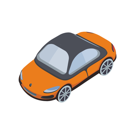 Car icon in isometric projection. Vector illustration, isolated on white background. Illustration