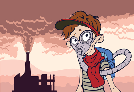 Environmental pollution poster. Illustration