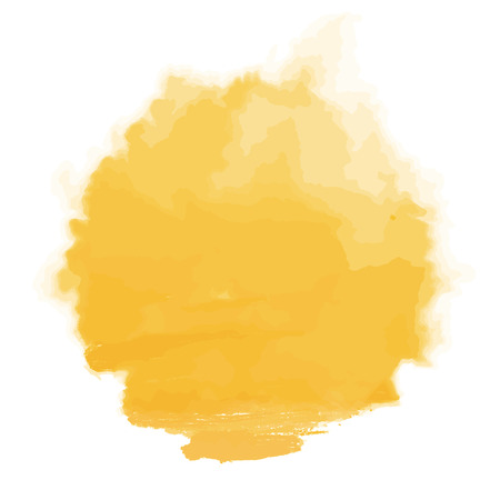 Vector yellow watercolor sun, isolated on white background. Illustration. Фото со стока - 83731572