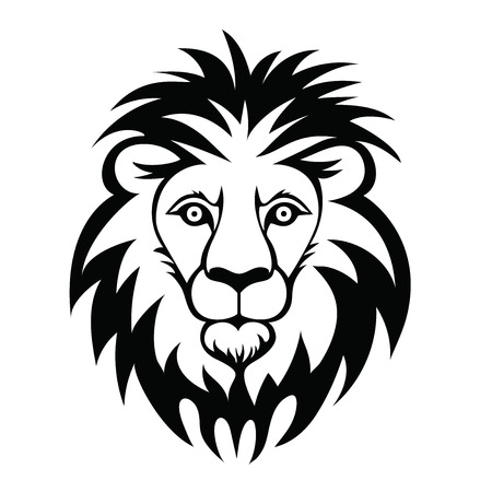 Logo Lion Head. Illustration vectorielle d'un animal, isolé sur fond blanc. Banque d'images - 84498526
