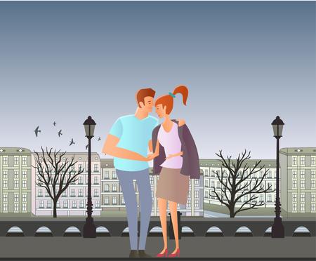 Couple having a romantic date icon. Stock Vector - 85648647