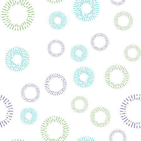 repeated: Simple seamless textile pattern with round colored elements Illustration