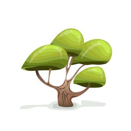 Green cartoon tree.