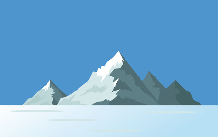 Mountain rocky islands in the ocean or sea. Vector illustration. Illustration