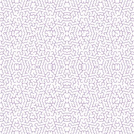 Irregular seamless pattern. Tileable abstract maze design. Labyrinth backround, vector illustration.