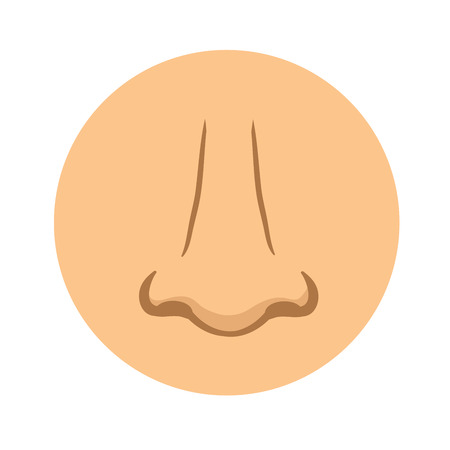 Human nose icon. Vector pictogram illustration, isolated on white background.