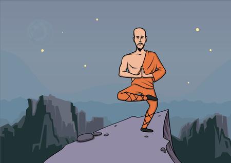 Monk master illustration