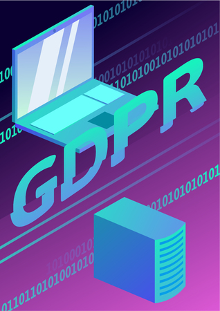 GDPR, concept illustration. General Data Protection Regulation. The protection of personal data. Vector poster.