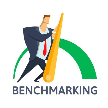 Bank markieren für Business-Konzept Illustration