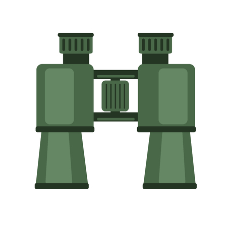 Binoculars, field glasses. Vector icon illustration, isolated on white background
