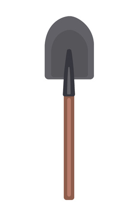 Shovel. Vector illustration, isolated on white background Çizim