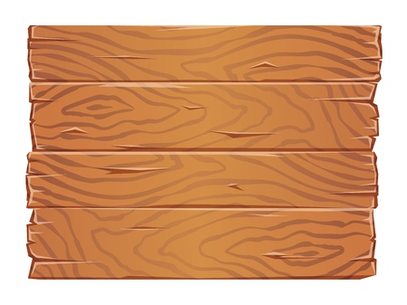 Wooden boards texture clipart. Old wooden planks side by side. Flat vector illustration. Isolated on white background. Illusztráció