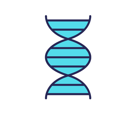 DNA icon. Line colored vector illustration. Isolated on white background. 일러스트