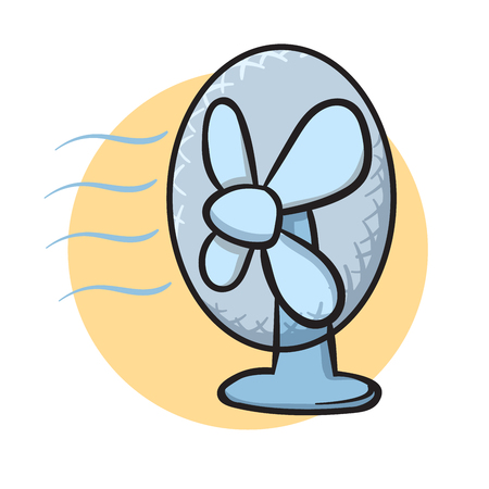 Table fan. Vector illustration, isolated on white background