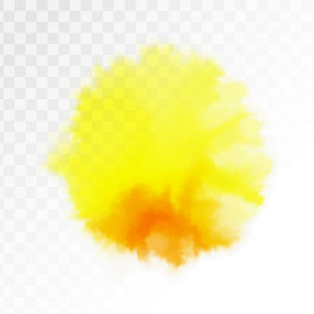 Light yellow and red watercolor spot, isolated on transparent background. Vector illustration. Archivio Fotografico - 127709950