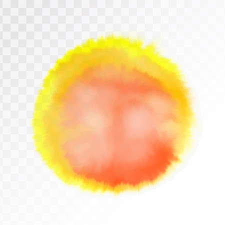 Light red and yellow watercolor spot, isolated on transparent background. Vector illustration. Archivio Fotografico - 127692153