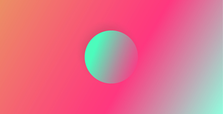 Abstract neon color background with round shape in the middle. Abstract vector illustration, horizontal. Ilustrace