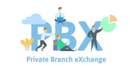 PBX, private branch exchange. Standard-Bild
