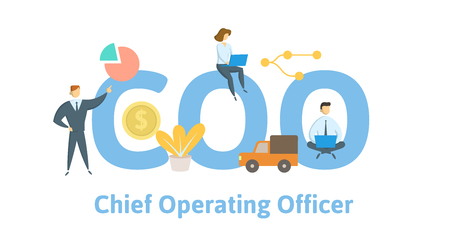 COO, chief operating officer. Concept with keywords, letters and icons.