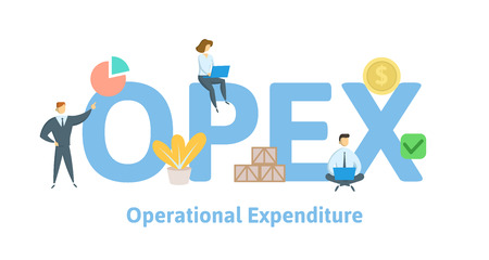 OPEX, Operational Expenditure. Concept with keywords, letters and icons.