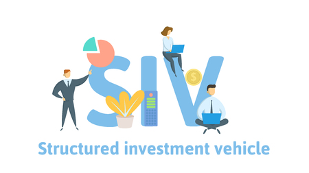 SIV, Structured Investment Vehicle. Concept with keywords, letters and icons.
