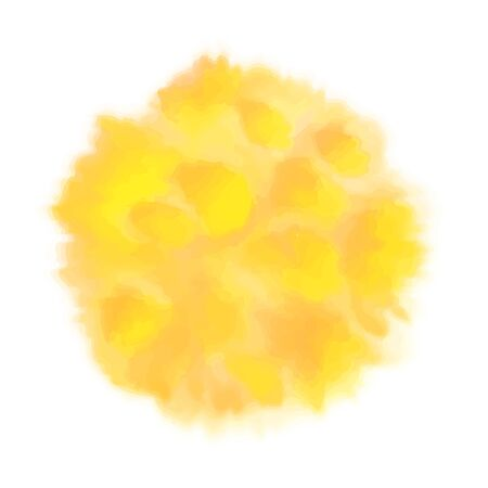 Vector yellow watercolor sun, isolated on white 写真素材 - 132926718