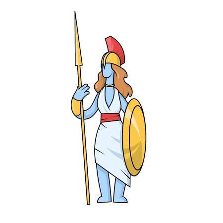 Athena, ancient Greek goddess of Wisdom, War, and Useful Arts.