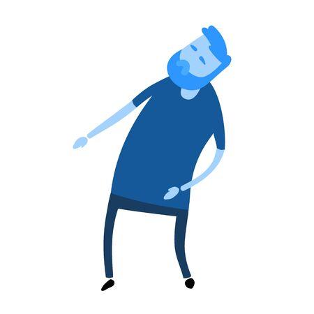 Cartoon man looking. Cartoon design icon. Flat vector illustration. Isolated on white background.