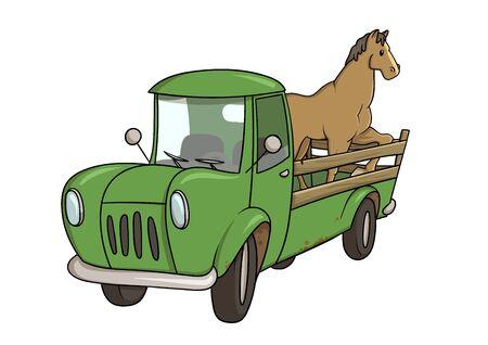 ᐈ Horse trailer clip art stock vectors, Royalty Free horse trailer  illustrations | download on Depositphotos®