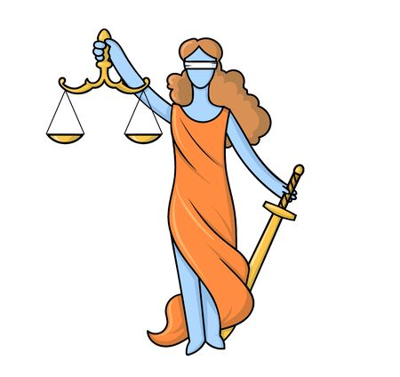 Themis or Justice - goddess of order and law in Ancient Greece.