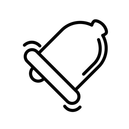 Bell ringing simple black and white outline icon.