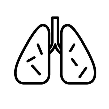 Infected lungs icon. 일러스트