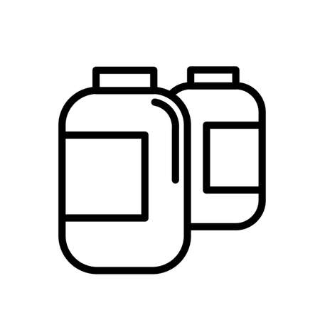 Bottles of pills simple black and white outline icon.