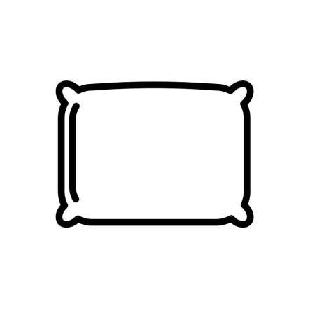 Square pillow minimal black and white outline icon.