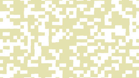 Abstract square pixel background in white and khaki color. Vector illustration.