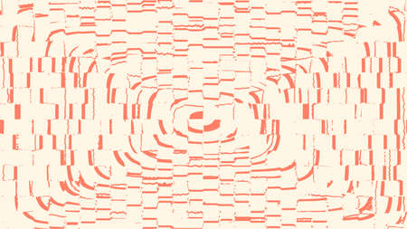 Background for the poster in the style of glitch. Distorted rectangles, orange color.