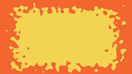An amorphous yellow spot on orange background. Vector illustration, design template for poster or banner. Illustration