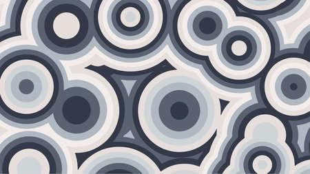 Abstract background of grey concentric circles. Vector illustration. Ilustração