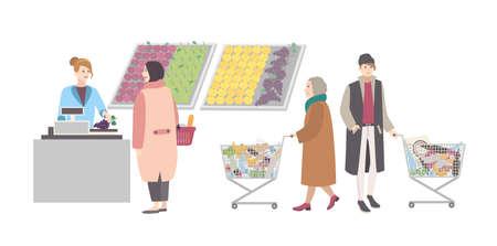 Concept for supermarket or shop. Çizim