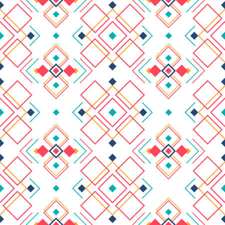 Geometric seamless pattern with ethnic ornament. ethno aztec abstract background.