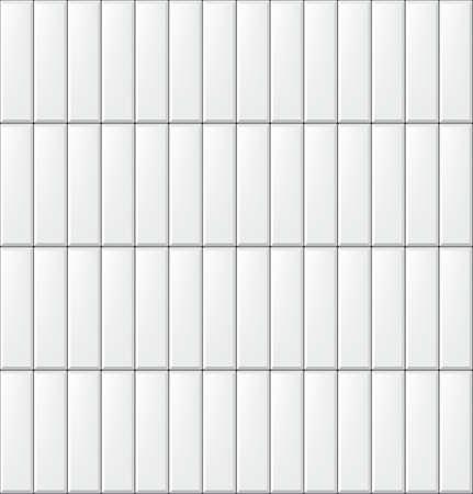 Nahtloses Muster mit modernen vertikalen rechteckigen weißen Fliesen. Realistische Textur Vektor-Illustration Vektorgrafik