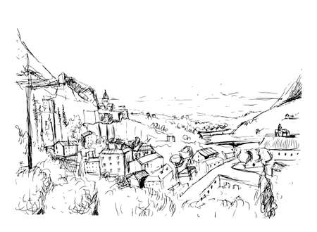 Remarkable Georgian landscape sketch.